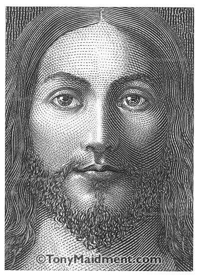 Jesus Christ Engraving